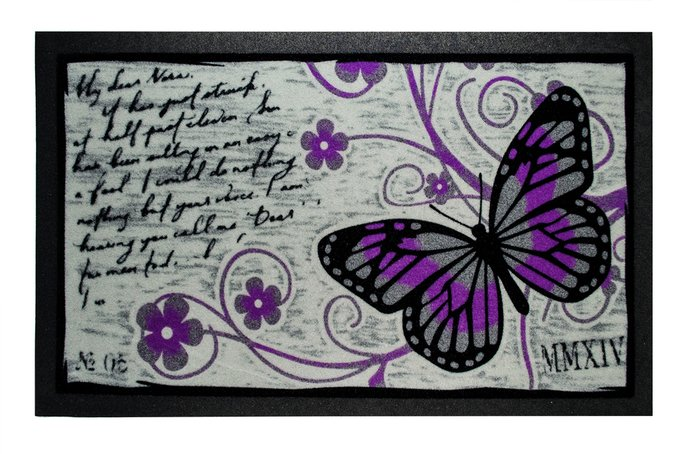 Придверный коврик серо-фиолетового цвета 40х68