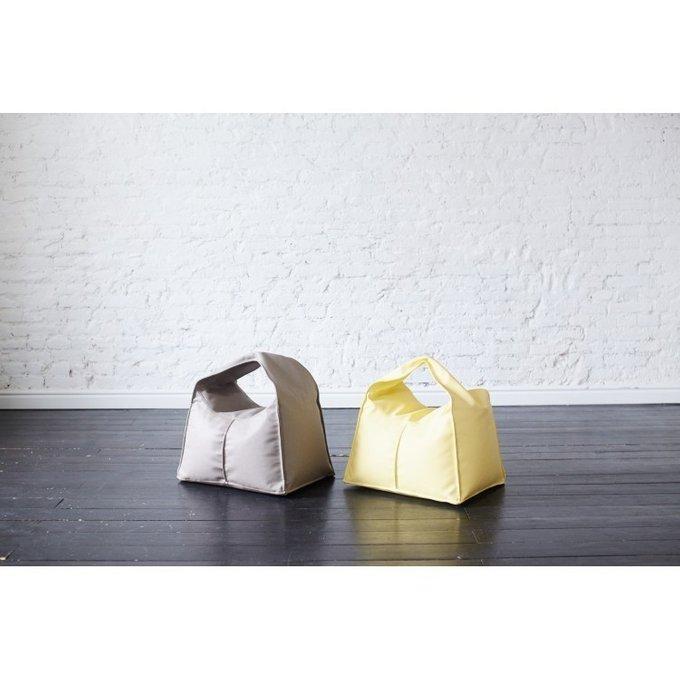 Пуф-сумка детский с чехлом из экокожи