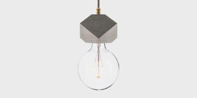 Подвесной светильник Beton Makt, Серый|Черный