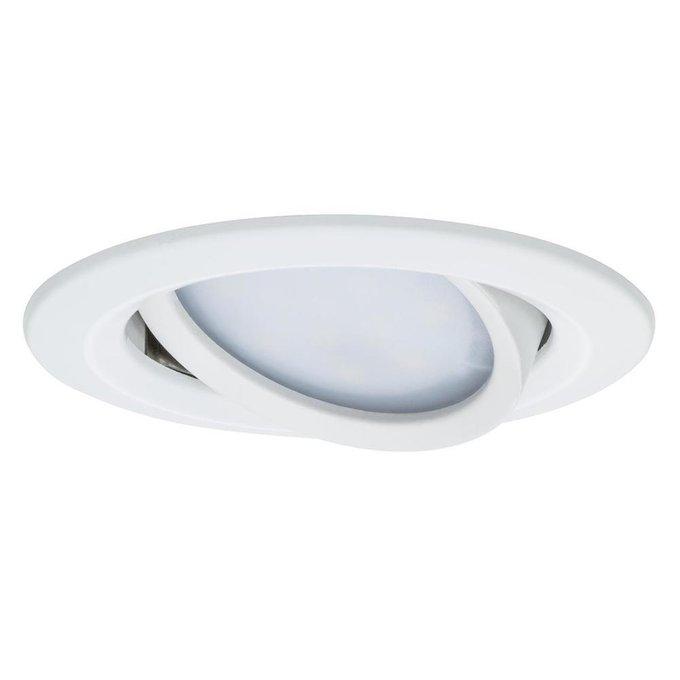 Встраиваемый светодиодный светильник Premium Slim Coin белого цвета