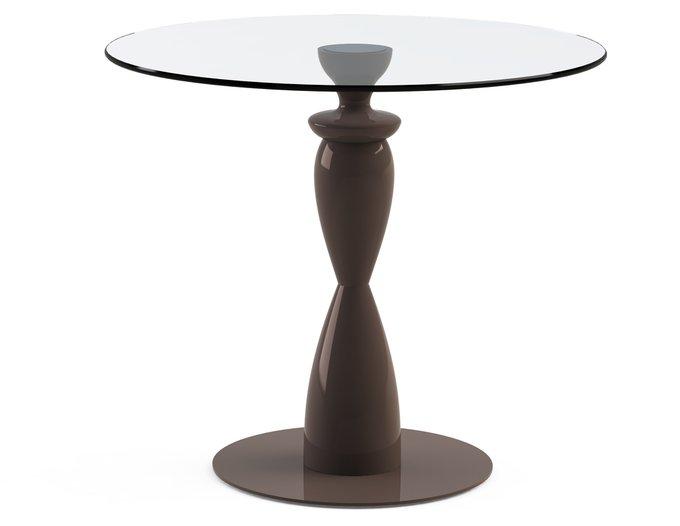 """Обеденный стол """"CANTALESO Choco"""" со столешницей из закаленного стекла"""