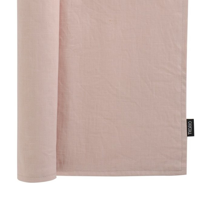 Двухсторонняя салфетка под приборы из умягченного льна цвета пыльной розы