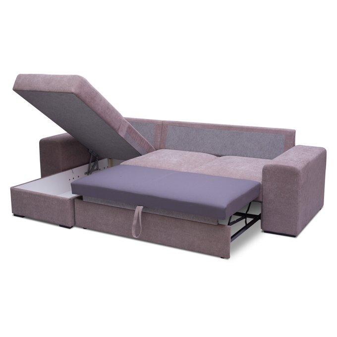 Угловой диван Ларвик лилового цвета