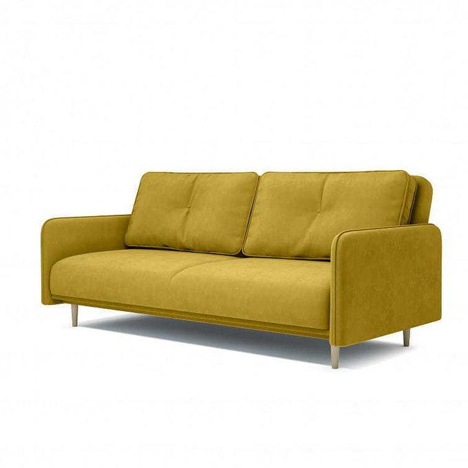 Диван-кровать Блумбер горчичного цвета