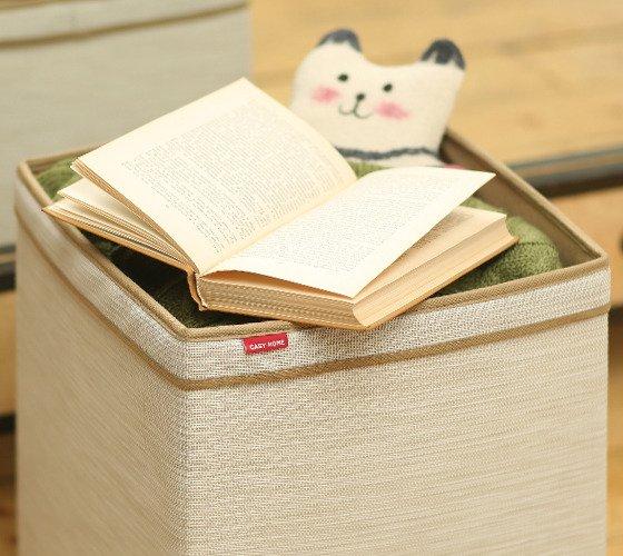 Корзина Casy Home для хранения с ручками бежевая