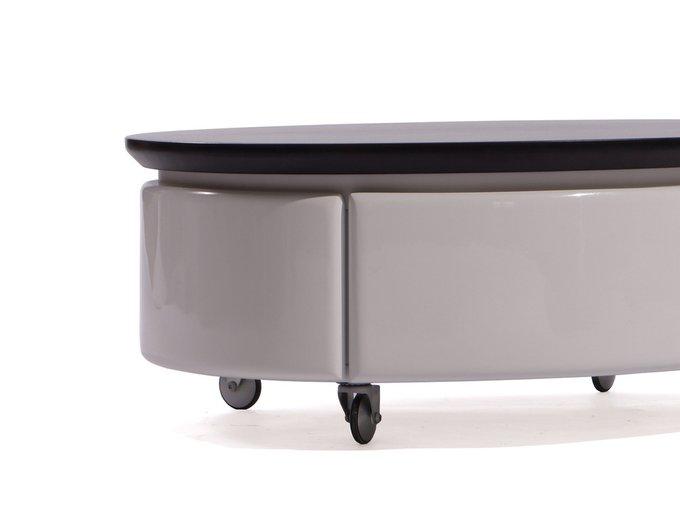 Тумбочка овальная Apriori с двумя выдвижными ящиками