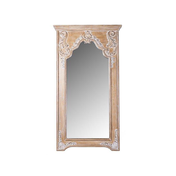 Зеркало напольное Kristin коричневого цвета