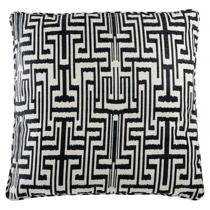 Подушка Ozbek черно-белого цвета