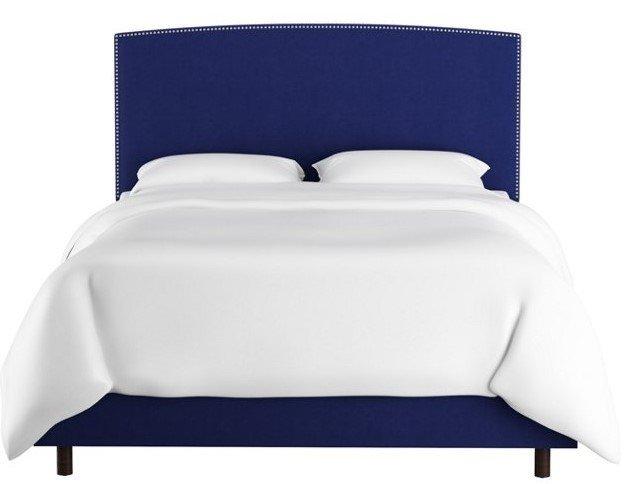 Кровать Everly Blue синего цвета 160х200