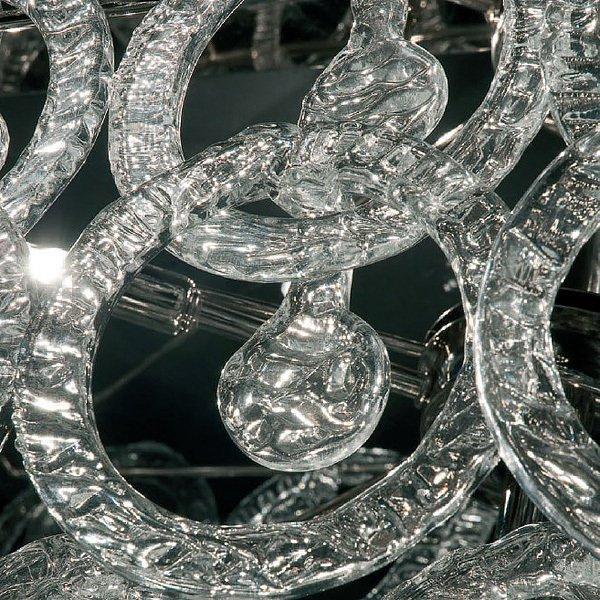Торшер Jago с кольцами из прозрачного стекла