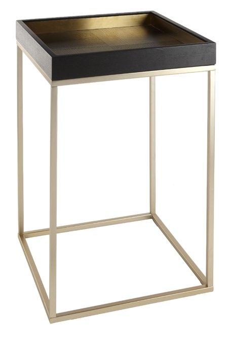 Приставной столик Alyn с деревянной столешницей