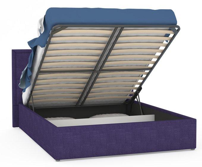 Кровать Прага фиолетового цвета с подъемным ортопедическим основанием 160х200