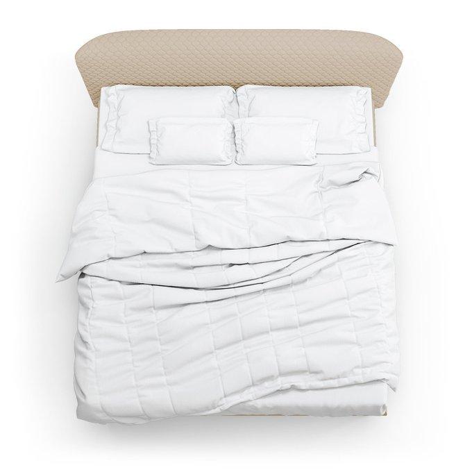 Кровать Венди бежевого цвета 180х200