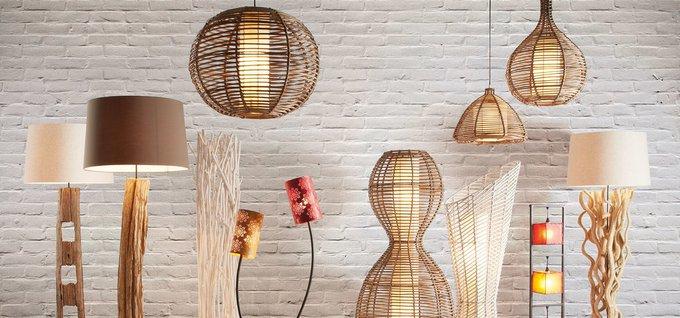 Подвесной светильник из ротанга Julia Grup Kawa