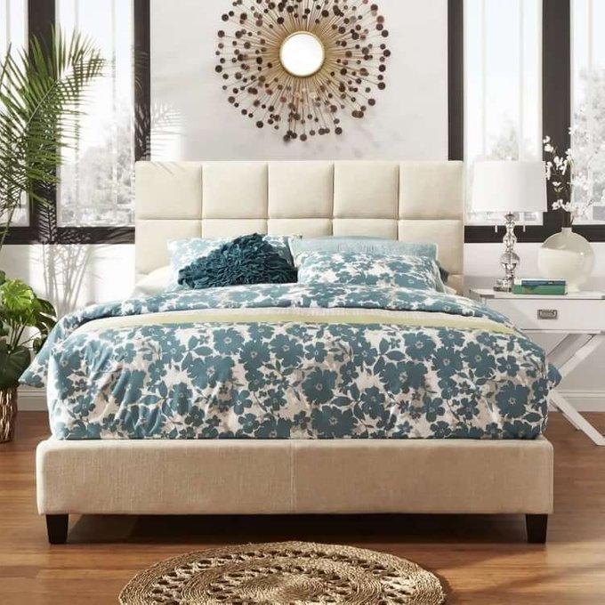 Кровать Shining Modern светло-серого цвета 180х200