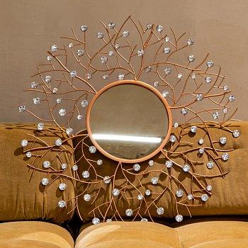 Настенное зеркало Бенуа Роуз цвета розового золота