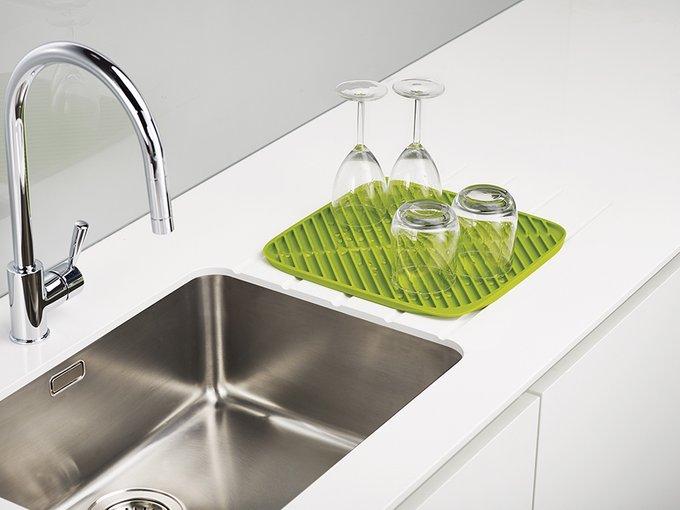 Коврик для сушки посуды Joseph Joseph flume  маленький зеленый