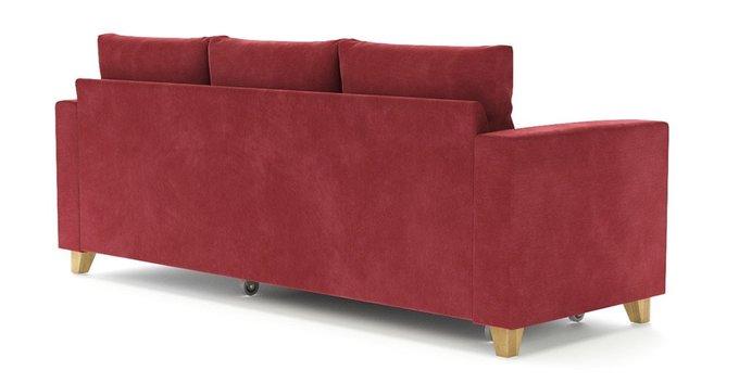 Угловой диван-кровать Эмилио красного цвета