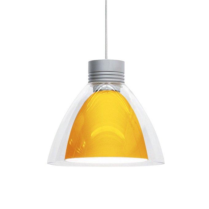Подвесной светильник Oligo PULL-IT с плафоном из стекла янтарного цвета