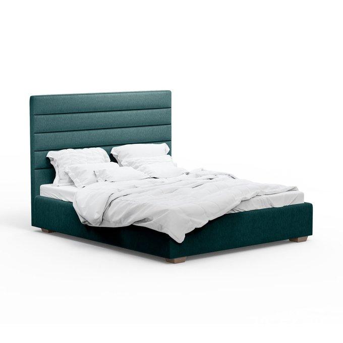 Кровать Джейси зеленого цвета 180х200 с подъемным механизмом
