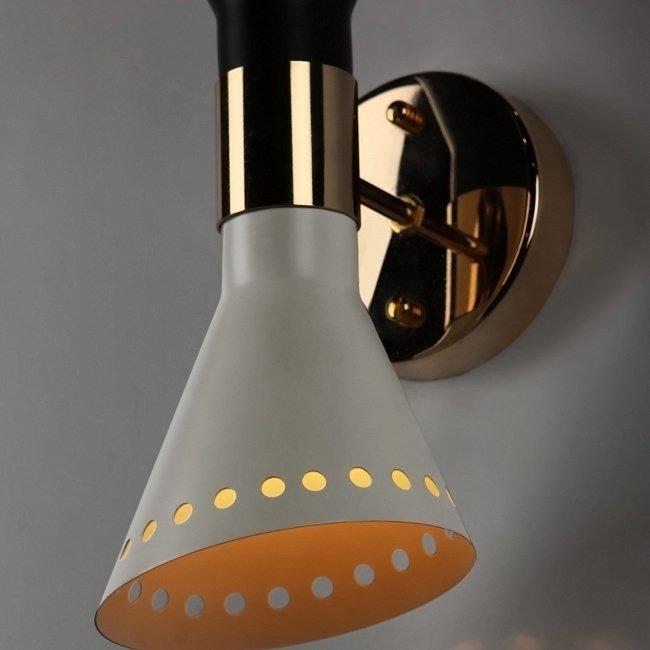 """Настенный светильник """"Two-headed Stilnovo"""" из металла и стали"""