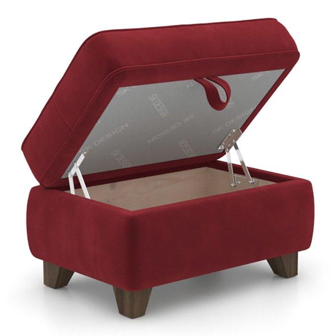 Пуф Wolsly MT с ящиком красного цвета