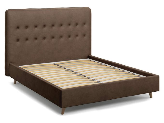 Кровать Bergamo коричневого цвета 160х200