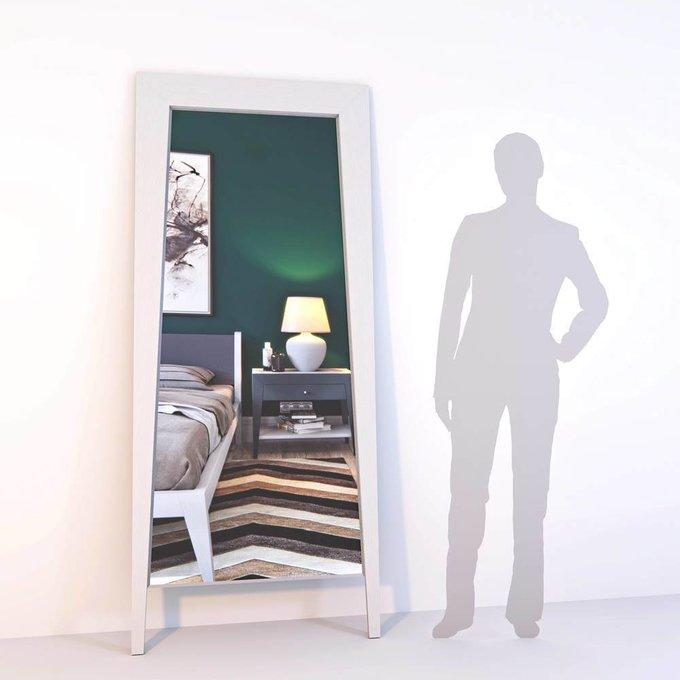Напольное зеркало Ego White из массива дуба