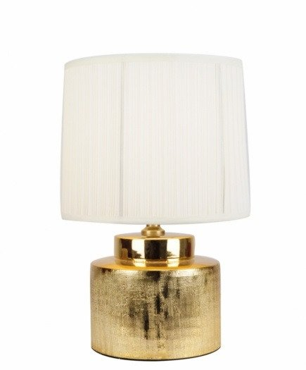 Лампа настольная керамическая с белым абажуром