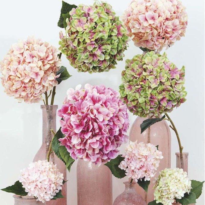 Искусственный цветок Hortensie 3D  нежно-лилового цвета