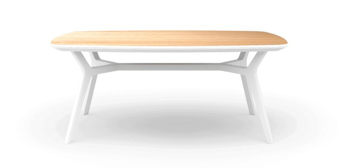 Раскладной стол Johann oak white 180-240 дуб