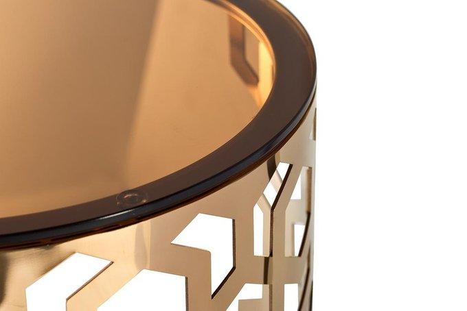 Кофейный столик золотой