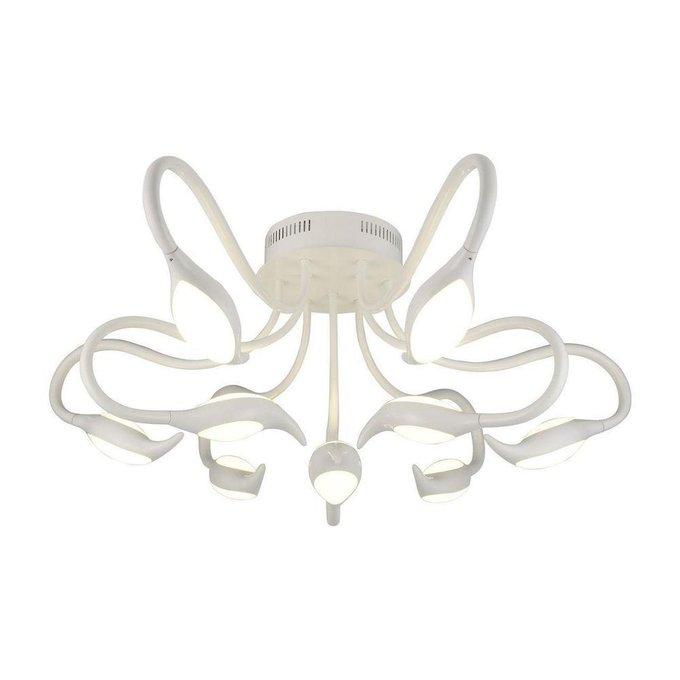 Потолочная светодиодная люстра белого цвета с акриловым плафоном