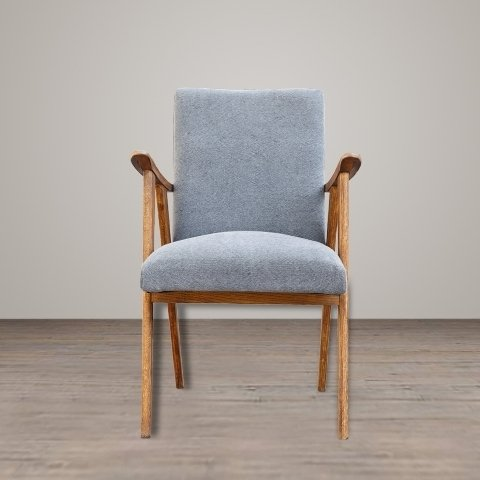 Кресло Тайлер с голубой обивкой