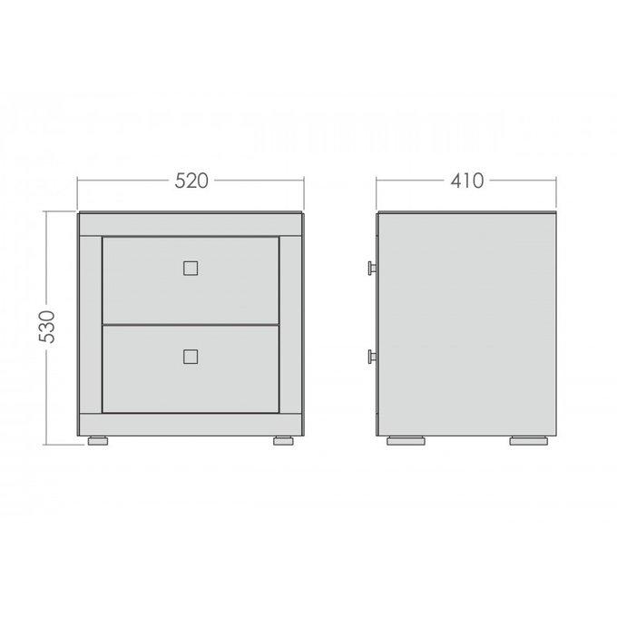 Зеркальная тумба с двумя ящиками