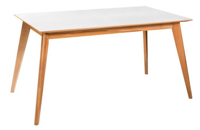 Обеденный стол раскладной Лунд с белой столешнией