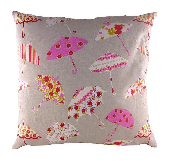 Подушка с принтом Brollies Pink
