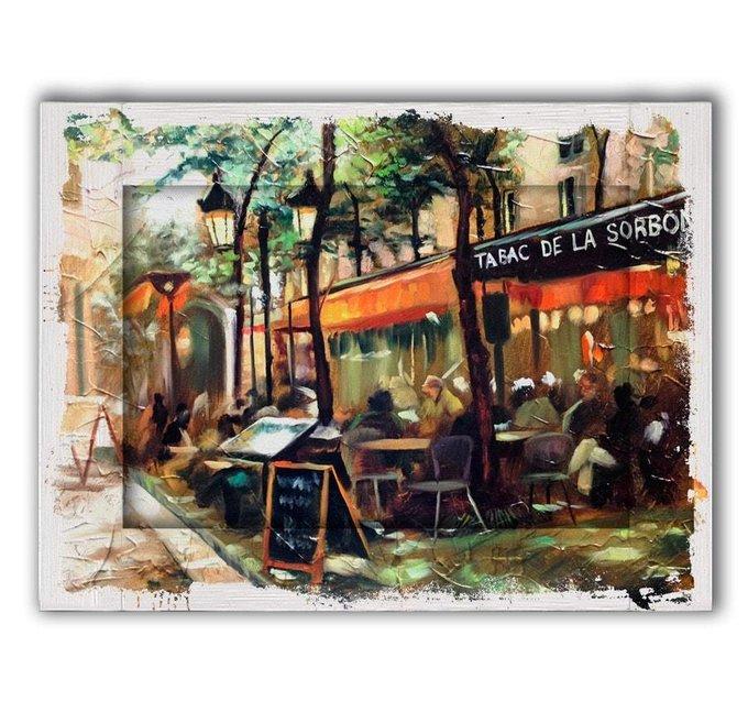Картина с арт рамой Кафе Сорбона  80х100
