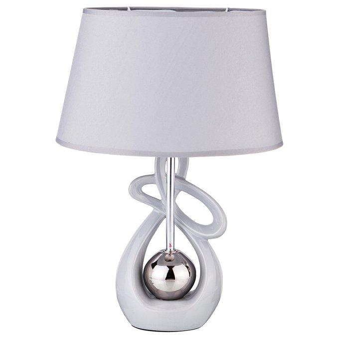Настольная лампа бело-серебряного цвета