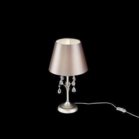 Настольная лампа Alexandra с коричневым абажуром
