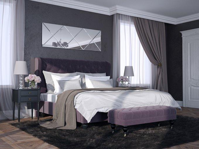 """Кровать """"Jazz"""" с высокой спинкой и декоративными  пуговицами  200х200 см"""