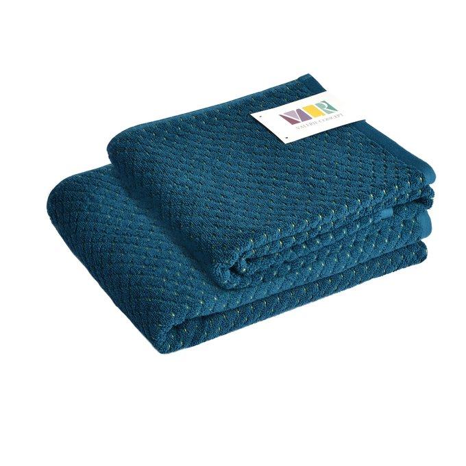 Полотенце из хлопка темно-синего цвета 70х140