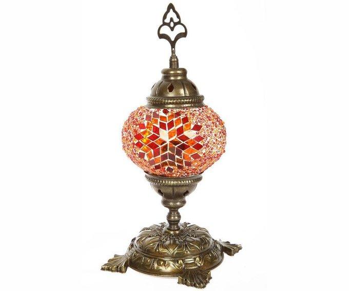 Настольная лампа Марокко с оранжевым плафоном
