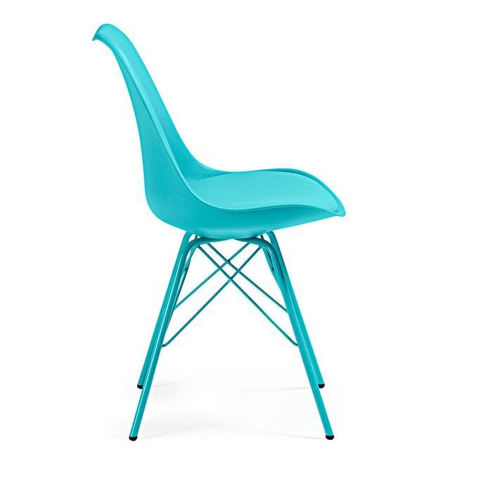 Стильный стул Lars голубого цвета