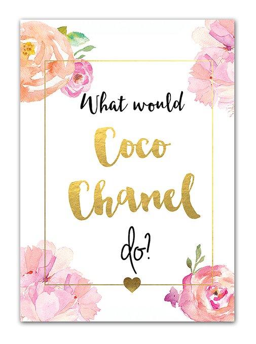 "Постер ""Coco Chanel"""