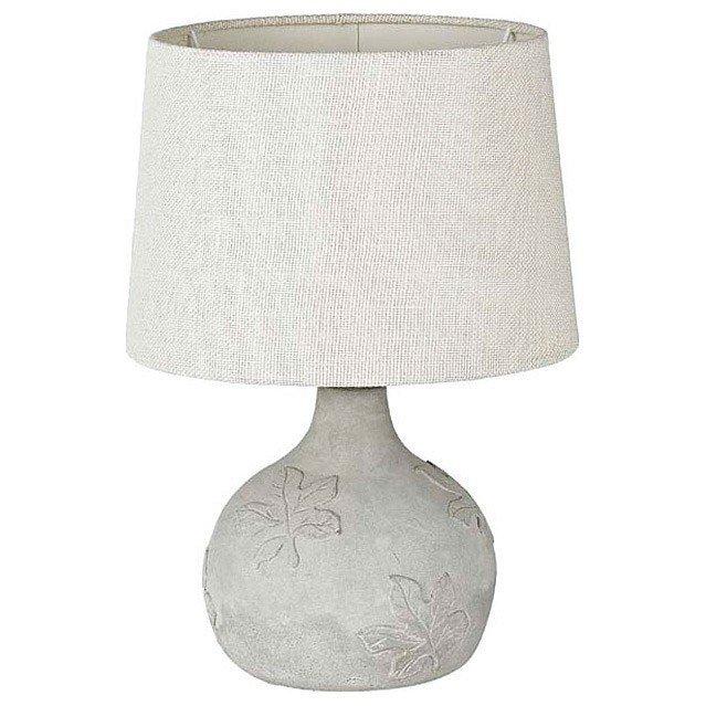 Настольная лампа декоративная с бежевым абажуром