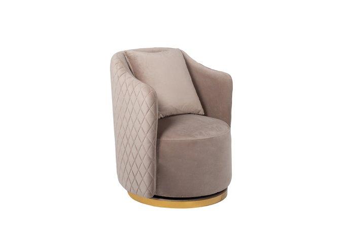 Кресло вращающееся жемчужно-серого цвета