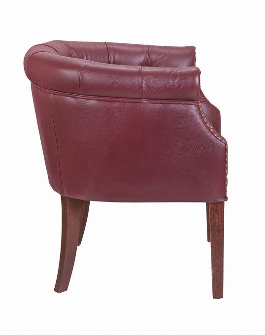 Дизайнерское кресло Grace vine leather красного цвета