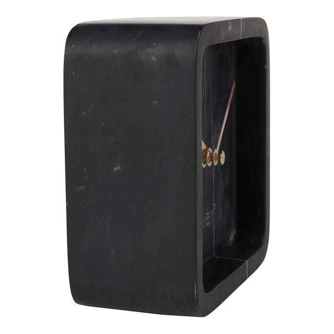Часы Luxury Time из черного мрамора