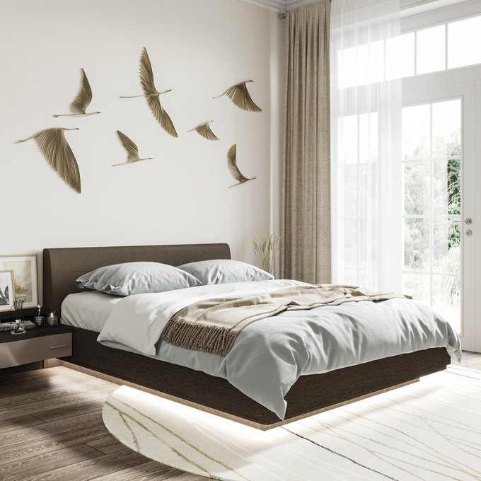 Двуспальная кровать с нижней подсветкой Элеонора 140х200